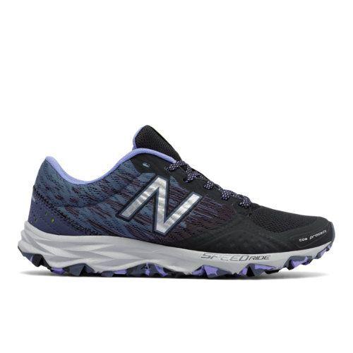 New Balance 690v2 Trail Women's Trail Running Shoes - Black/Purple/Grey  (WT690LB2