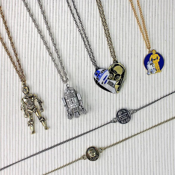 R2-D2 and C-3PO necklaces