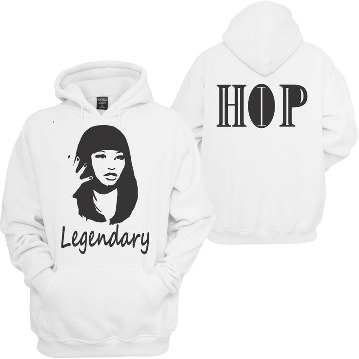 Nikki Minaj Legendary Hip HOP hoodie / Sweatshirt/ Long Sleeve/ T-shirt/ Hip Hop fashion and Urban Wear/ 90's Hip Hop/ the Greatest by AGCustomsCreations on Etsy