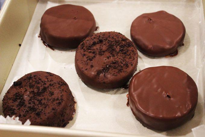 A take on the iconic Klondike Ice Cream Bar. Dark Chocolate Ice Cream dipped in 2 Ingredient Bittersweet Chocolate Magic Shell!