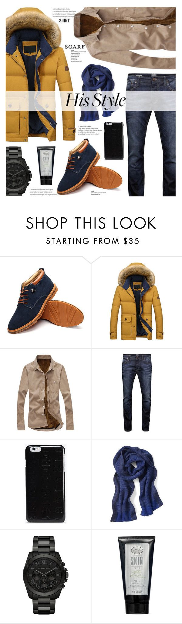 """""""Newchic 2.6"""" by cly88 ❤ liked on Polyvore featuring Jack & Jones, Maison Margiela, Banana Republic, Michael Kors and The Art of Shaving"""