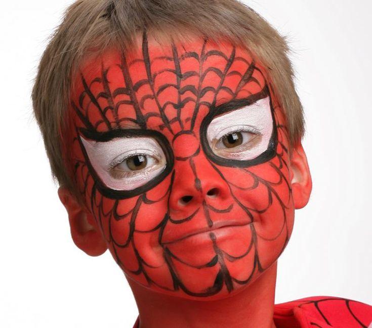 Grimtout, maquillage à l'eau, spiderman, étape 3