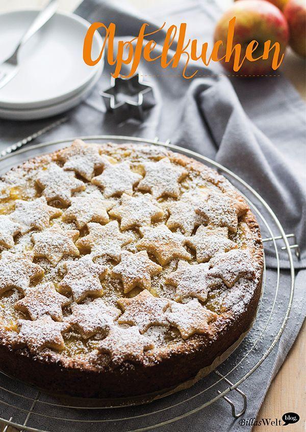 Gedeckter Apfelkuchen heute in der Weihnacht-Version. Mit Zimt und Vanille... hmm, lecker!