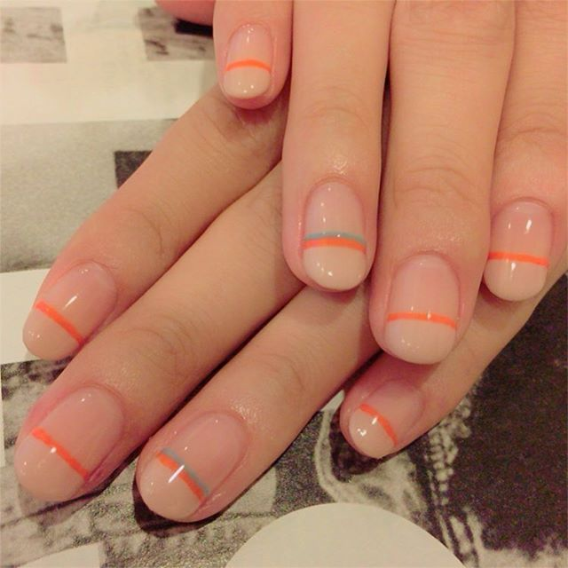 . ✔️My nails are finally done  I've waited for this so long time!!!! They look too summery though.... #gelnails