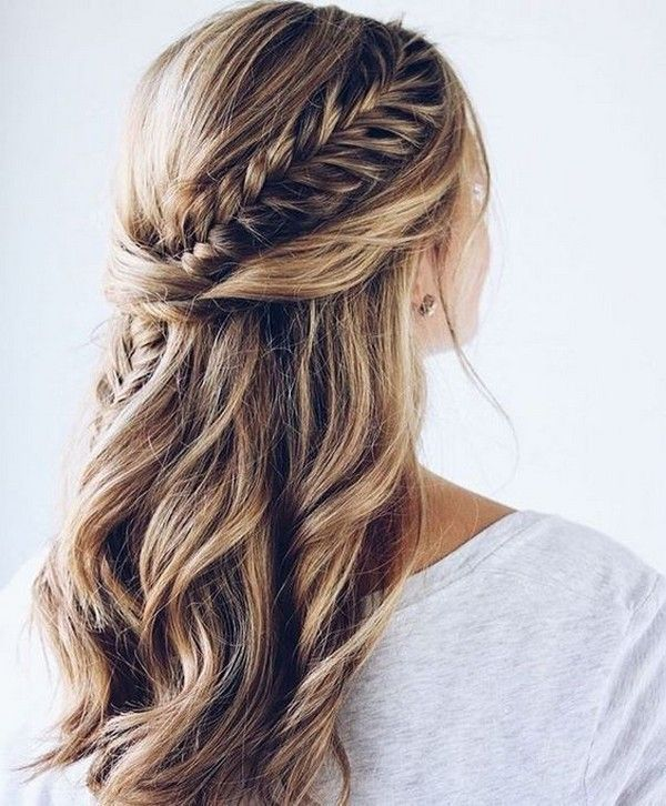 20 Awesome Half Up Half Down Wedding Hairstyle Ideas Peinados Elegantes Peinados Con Trenzas Peinado Y Maquillaje
