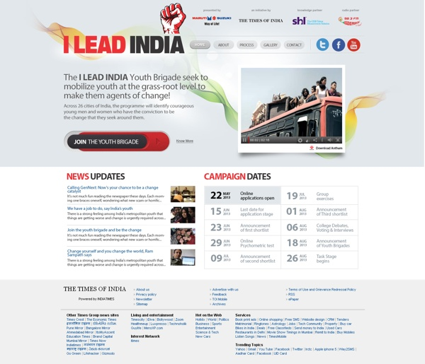 I Lead India - times of india by shailey shankar, via Behance