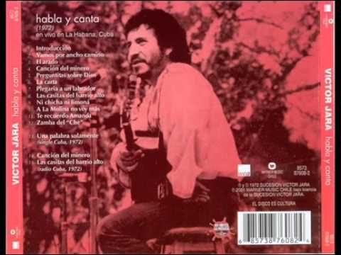 Víctor Jara - 1972 -  Habla y canta en vivo en la Habana