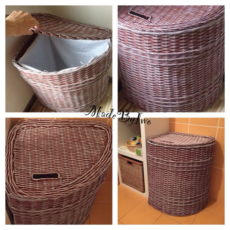 Laundry basket @ made from paper rolls