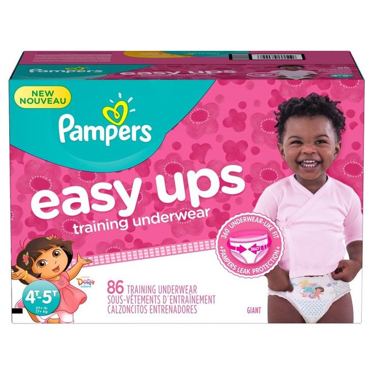 Pampers Easy Ups Girls Training Pants Giant Pack