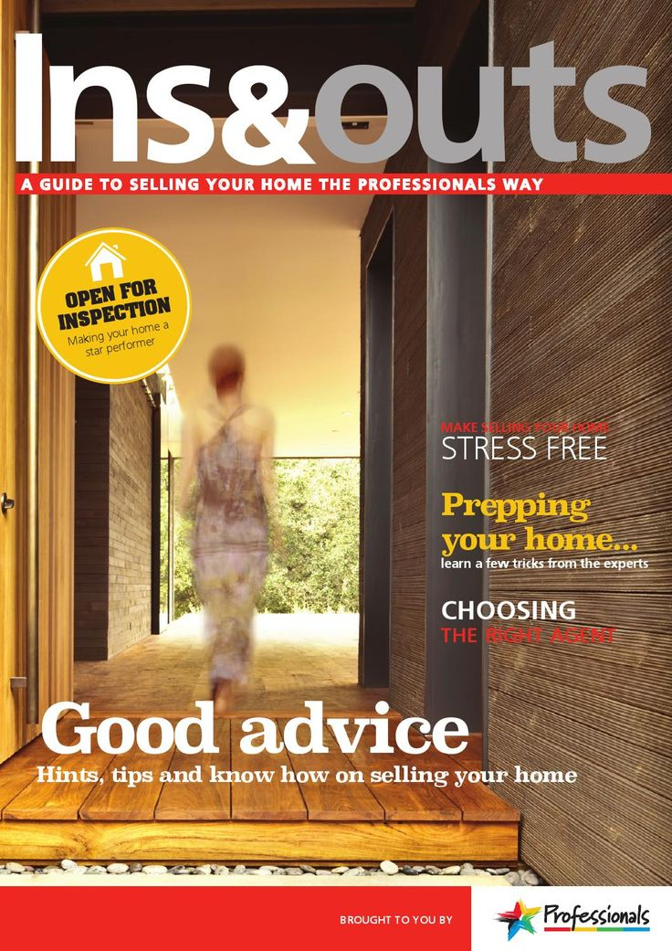 Professionals Ins & Outs Magazine FREE to read if you are buying or selling real estate.  An easy guide to answer all those questions, fill in the blanks and explain in simple words what it's all about.  Call Helen Henshall if you need a copy 03 443 7524 or 027 201 3805 or email me on Helen@profwanaka.co.nz