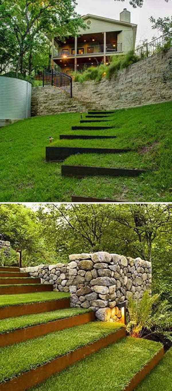 The Best 23 DIY Ideas to Make Garden Stairs and Steps. Outdoor  LandscapingLandscaping ...