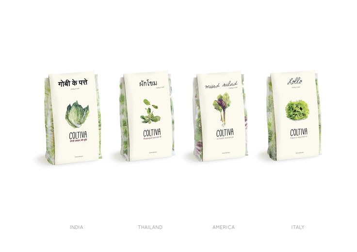 Coltiva - Salad Package design - Christabell McDonald