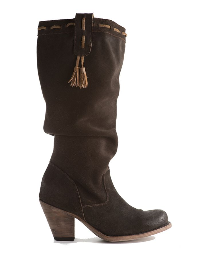 Elegant Pocahontas west coast suede boot with patented hidden pockets for cell phones, credit cards & passports. Dance, travel and shop purse free! Click to view - www.elizabethanneshoes.com $285