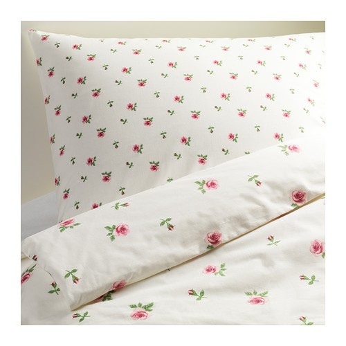 Ikea rose bedding new bedroom pinterest print for Parure housse de couette ikea