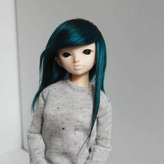 Minifee fairyland mnf wig black and petrol turquoise green mix