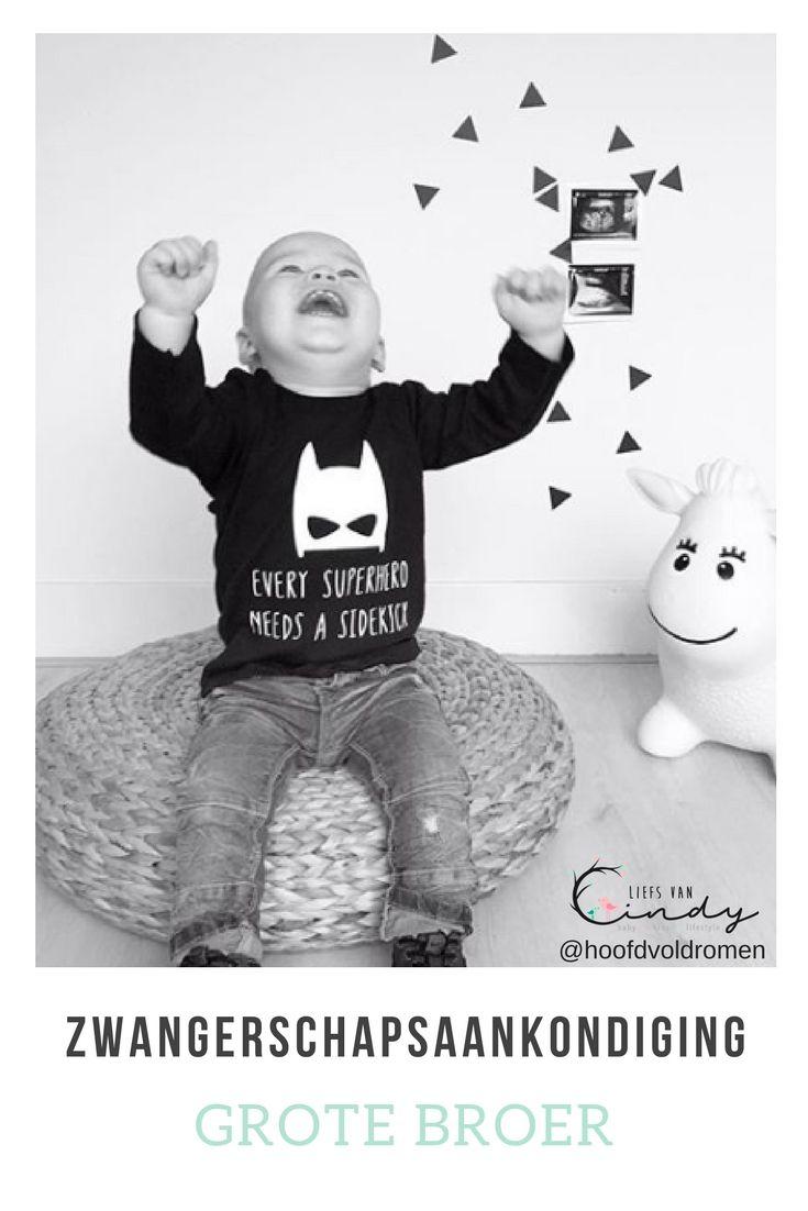 Super Ik word grote broer! Zwangerschapaankondiging van een broertje of @VU67