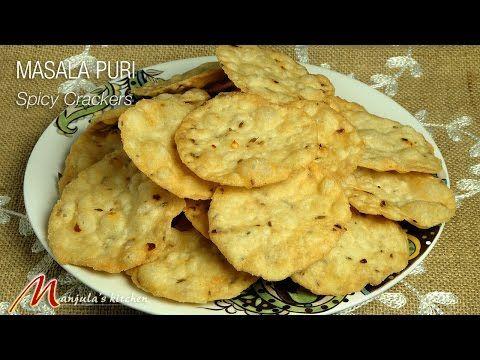Masala Puri - Spicy Crackers - Manjula's Kitchen - Indian Vegetarian Recipes