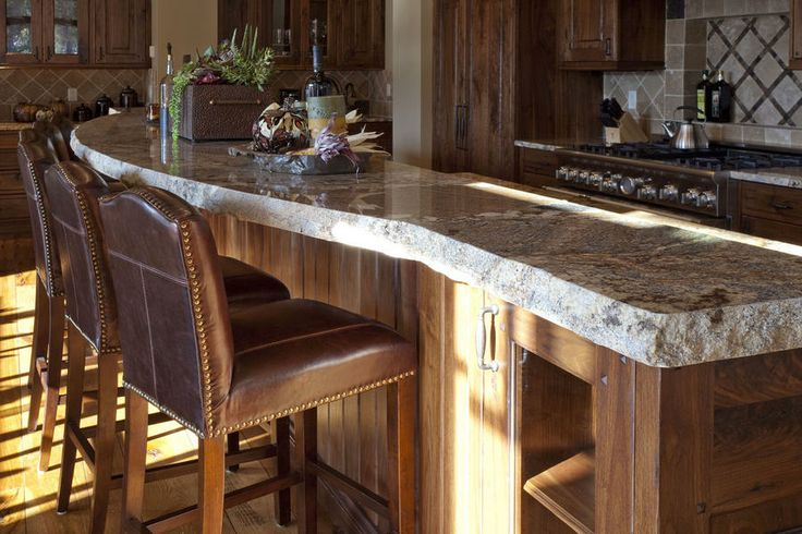 Beautiful Island with gorgeous chiseled edge granite