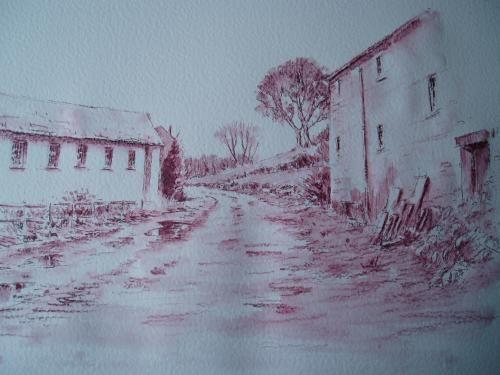 Derwent Graphitint W.I.P - WetCanvas Avec un crayon aquarellable