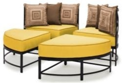 Everything Outdoor Furniture |710-21RC, The Caluco San Michele Round Sectional Set | Discount Patio Furniture At EODFurniture.com