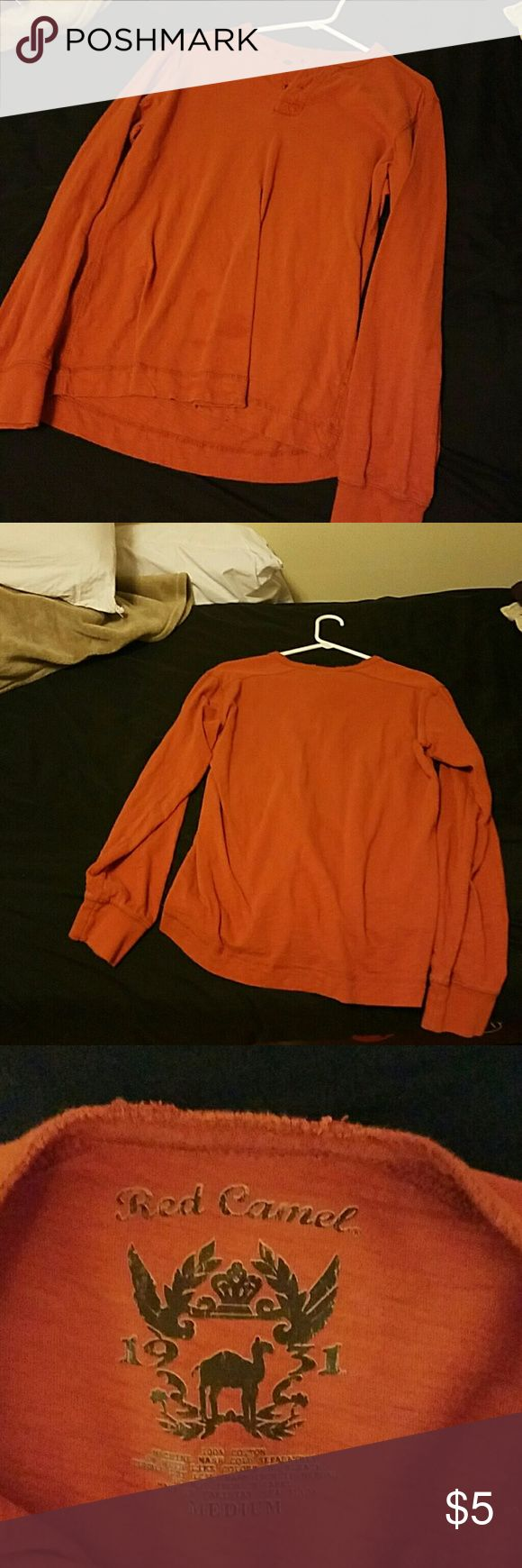 Red Camel Long Sleeve Shirt Shirt is in good condition long sleeve. Buttons on the front. Thin shirt Red Camel Shirts Tees - Long Sleeve