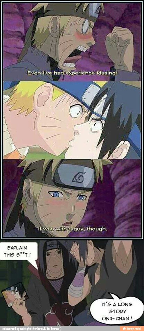 Even Naruto has experienced kissing....