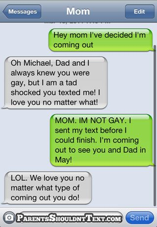 Girl accidentally texts dad with sex