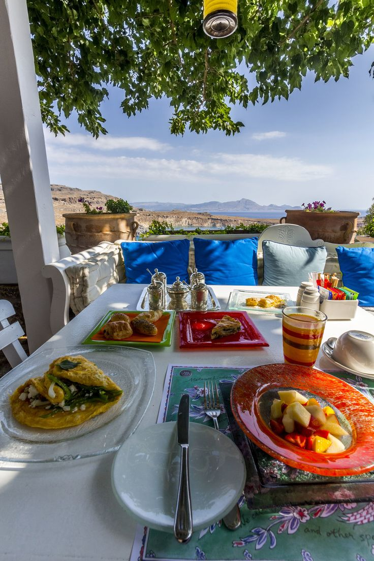 Not to be missed. Breakfast at Melenos Lindos Exclusive Suites