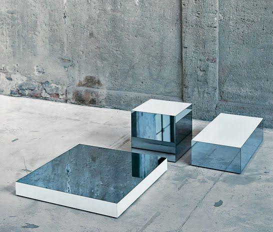 Mirror cubes. By Piero Lissoni