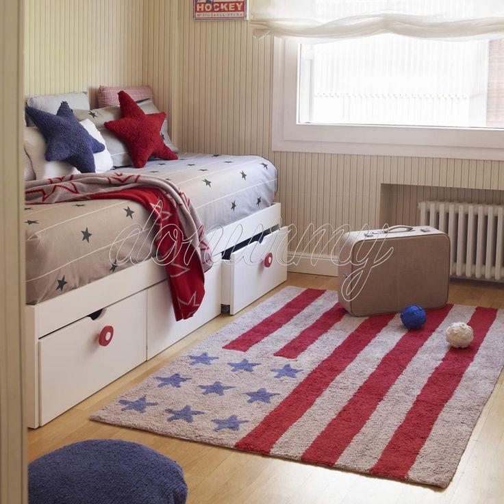 Alfombra Bandera Americana Lorena Canals - Donurmy.es