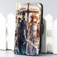 Kirito and Asuna Sword Art Online wallet case for iphone 4,4s,5,5s,5c,6 and samsung galaxy s3,s4,s5