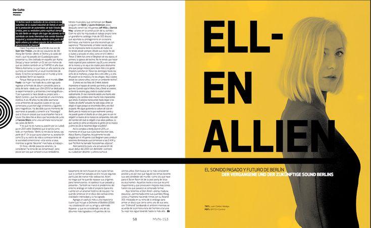 De Culto: Ellen Allien  #EllenAllien #MinimalDesign #GermanyDesign #Germany #Minimal #RevistaMarvin #Marvin #ArtDirection #Magazine #EditorialDesign #Editorial #GraphicDesign