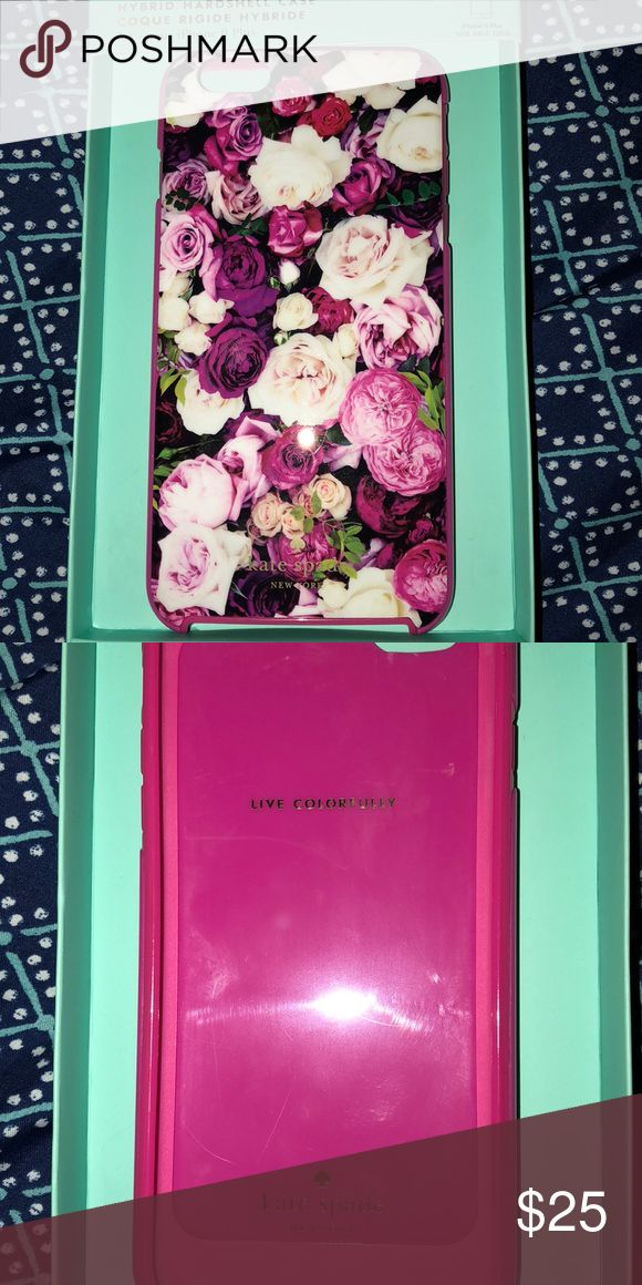 Beautiful Kate Spade Case! For iPhone 6plus✨ New Never used floral Kate Spade Case! This is not the original packaging! I have many cases so don't know what packaging goes to what Case lol It has no signs of wear! The inside however has a scratch (pictured) Never got to use due to switching phones! kate spade Accessories Phone Cases