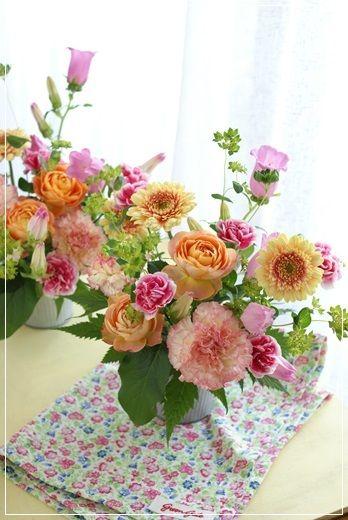 【母の日】小物入れとロマンティカ(その3)|Flower note の 花日記 (横浜・上大岡 アレンジメント教室)