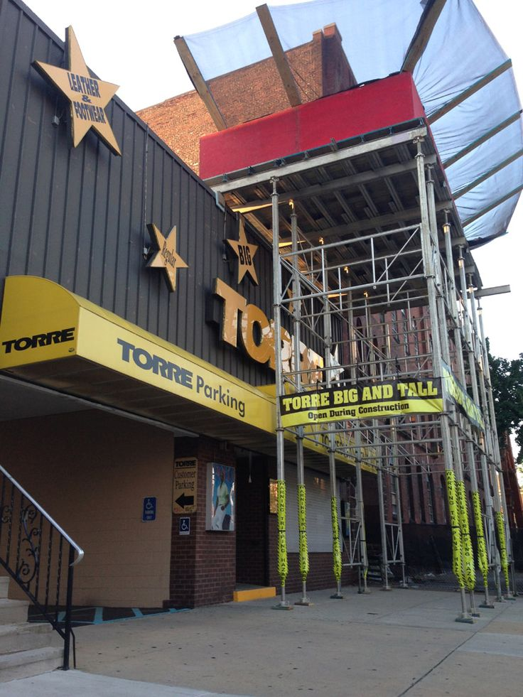 A super tall canopy at Torre Big u0026 Tall Menu0027s store & 32 best Canopy overhead protection sidewalk shed images on ...