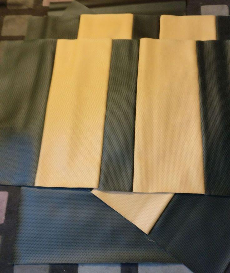VW T2 rock n roll Targa vinyl bed pad coverings for DIY