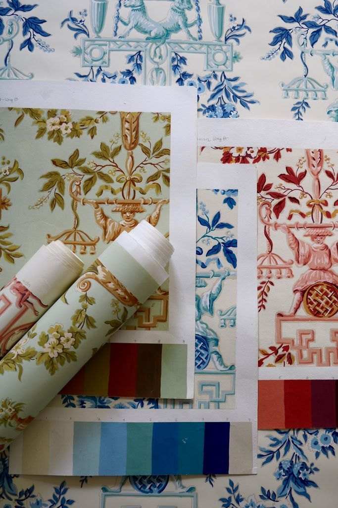 HERITAGE, first wallpaper collection from Le Manach by La Maison Pierre Frey All the wallpapers