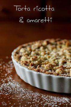 Cake with ricotta and amaretti - Torta alla ricotta e amaretti - La Susina on the rocks