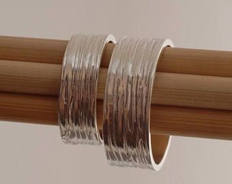 15% OFF-naves en Sept15 texturado plata banda de boda Set, juego anillo de bodas anillos, anillos de compromiso, BE32