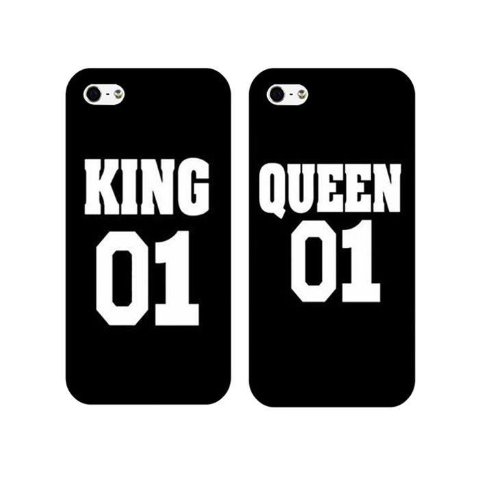 Queen King Brand Couple Case for iphone 4 5 5s 6 6s plus 77plus unique boyfriend girlfriend gifts Cover for iphone 4 5 5s 6 6s p