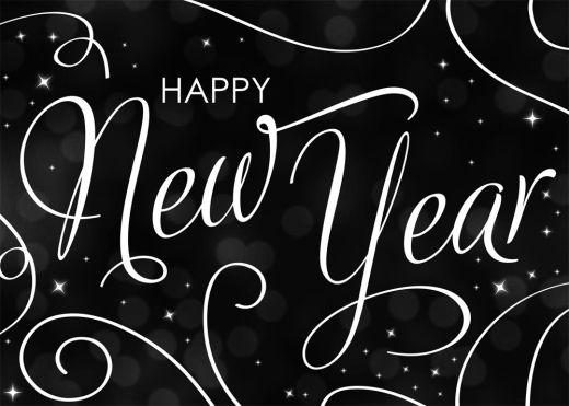 Shining New Year Card - New Years from Brookhollow