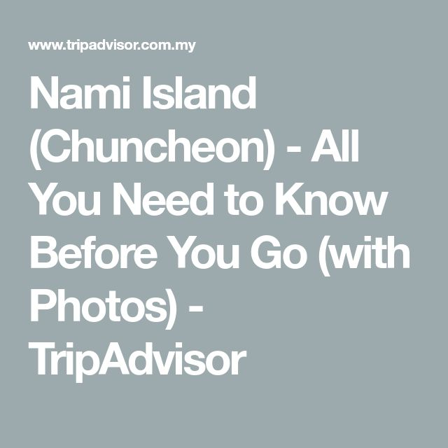 Nami Island (Chuncheon) - All You Need to Know Before You Go (with Photos) - TripAdvisor