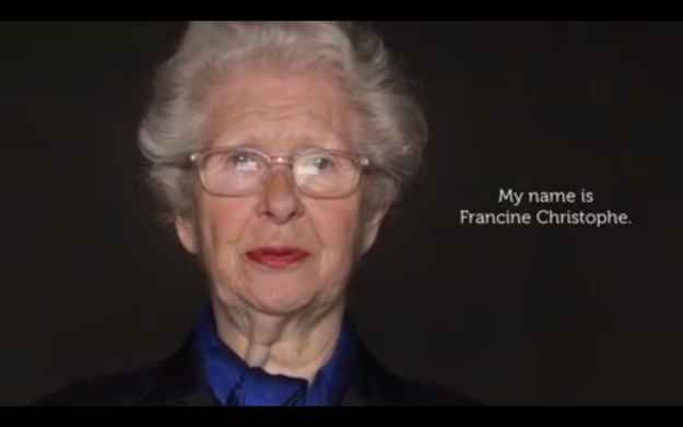 Francine Christophe is 83 years old. Amazing Holocaust survivor story.