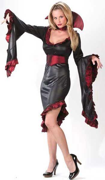 Drusilla Vampiress Kostüm M/L | Sexy Halloween Kostüm für die Vampir Prinzessin | horror-shop.com