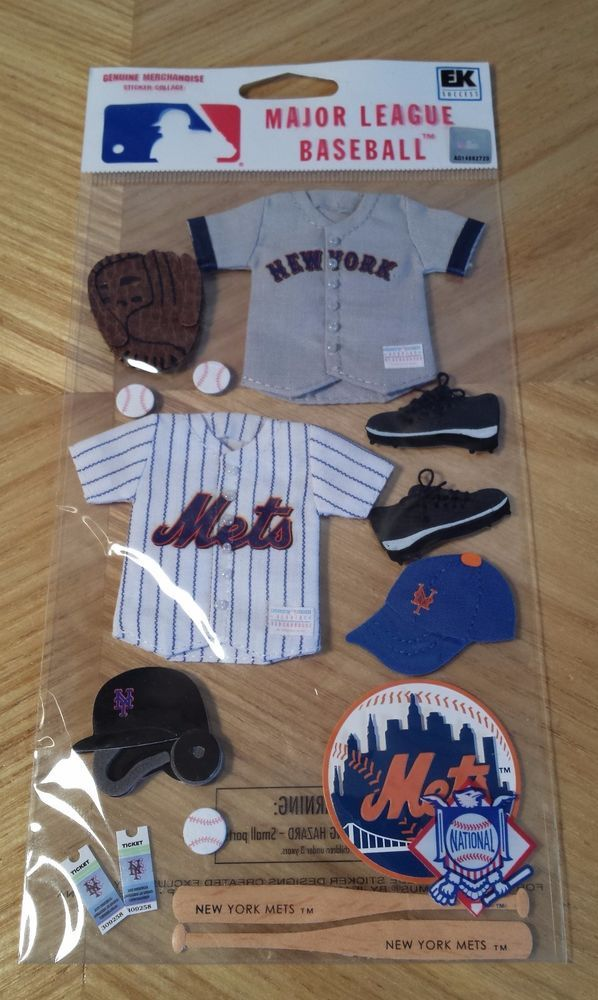 EK Success Jolee's MLB New York Mets Scrapbook 3D Uniform Baseball Stickers #JoleesBoutique