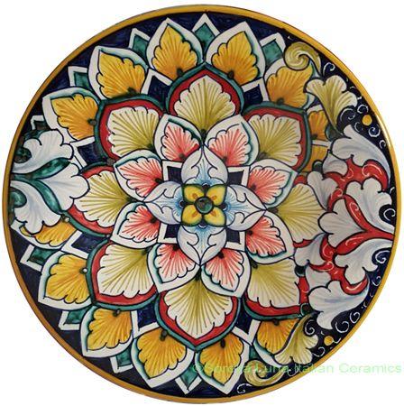 Ceramic Decorative plate - Vario Antico style - 15cm