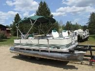 Nicely Refurbished 18 Fishing Pontoon Boat w New Bunk Trailer - 8000 Hill City