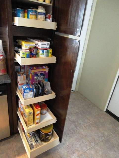 Pantry pull out shelves 3.5 inches tall by Slide Out