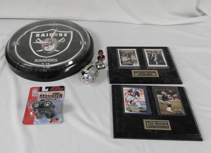 Oakland Raiders NFL Tim Brown Rich Gannon Player Card Plaque Bobblehead Clock #OaklandRaiders #Oakland #Raiders #NFL #Football #Fan #Memorabilia #Tim #Brown #Rich #Gannon #Player #Plaque #Display #Bobble #Head #Clock #Black #Silver 0105