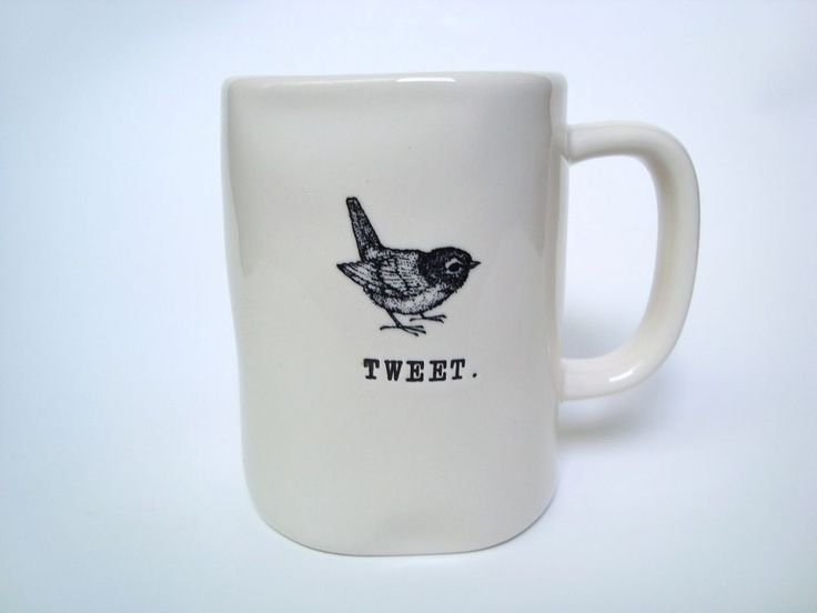 rae dunn magenta mug 4 9 in tweet white collectible